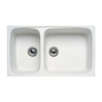 Rectangular Two-Bowl Sink