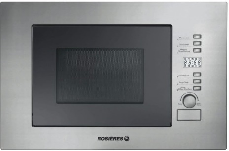 Rosieres Microwave Grill 20L built-in  Inox